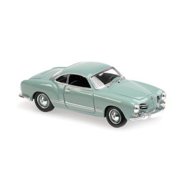 Maxichamps Volkswagen Karmann Ghia Coupe 1955 light blue - Model car 1:43