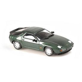 Maxichamps   Modelauto Porsche 928 S 1979 groen metallic 1:43