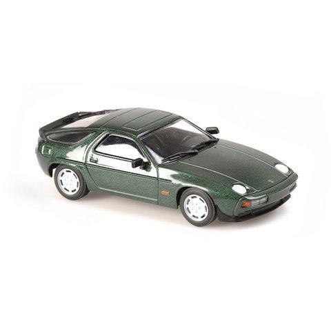 Porsche 928 S 1979 groen metallic - Modelauto 1:43