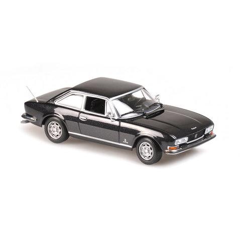 Peugeot 504 Coupe 1976 grijs metallic - Modelauto 1:43