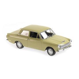 Maxichamps Ford Cortina Mk I 1962 groen - Modelauto 1:43