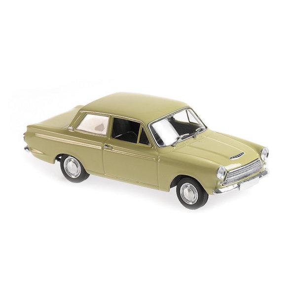 Model car Ford Cortina Mk I 1962 green 1:43