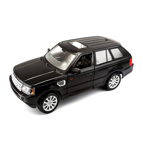 Land Rover Range Rover Sport zwart - Modelauto 1:18