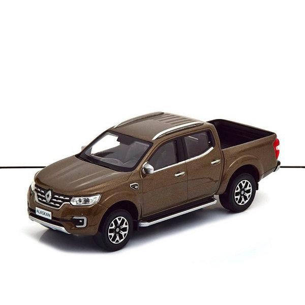 Modelauto Renault Alaskan 2017 bruin metallic 1:43