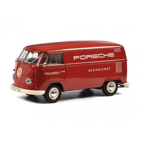 Volkswagen T1b 'Porsche Renndienst' rood - Modelauto 1:18