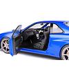 Model car Nissan Skyline GT-R (R34) 1999 blue metallic 1:18