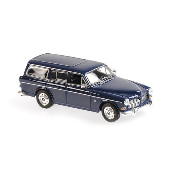 Modelauto Volvo 121 Amazon Break 1966 donkerblauw 1:43 | Maxichamps