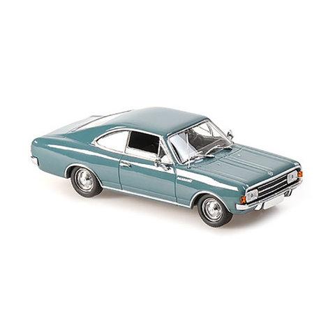 Opel Rekord C Coupe 1966 blauw - Modelauto 1:43