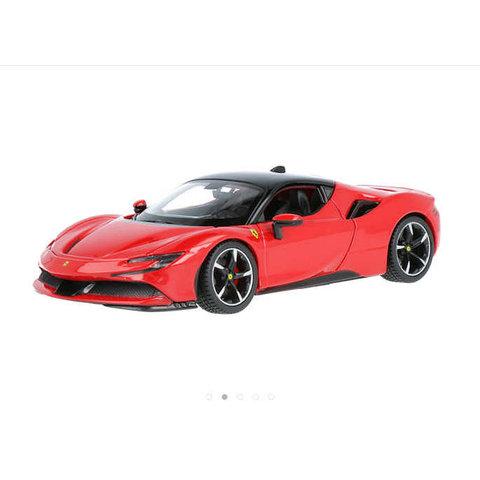 Ferrari SF90 Stradale rood - Modelauto 1:24