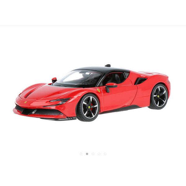 Modelauto Ferrari SF90 Stradale rood 1:24