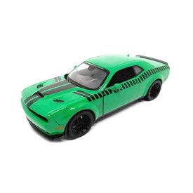 Motormax Dodge Challenger SRT Hellcat Widebody groen - Modelauto 1:24