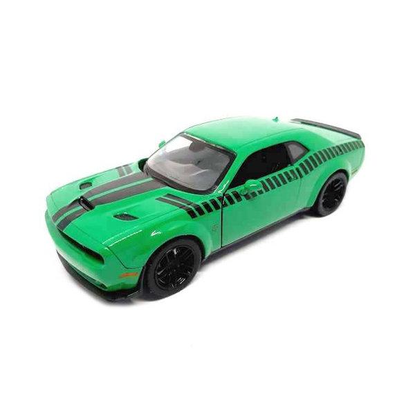 Modelauto Dodge Challenger SRT Hellcat Widebody groen 1:24