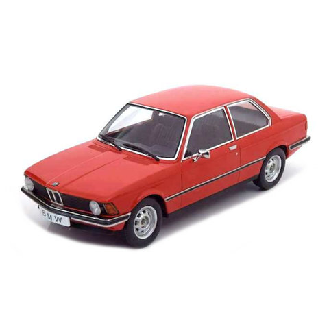BMW 318i (E21) 1975 rood - Modelauto 1:18