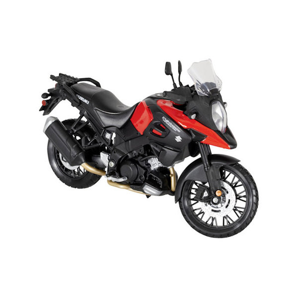 Modelmotor Suzuki DL 1000 V-Strom rood/zwart 1:12 | Maisto