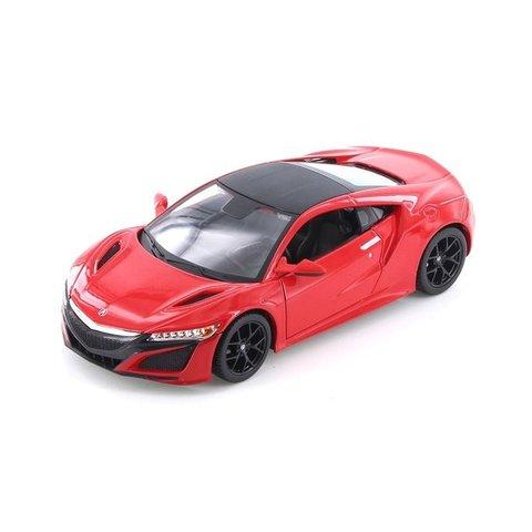Modelauto Acura NSX 2017 rood 1:24