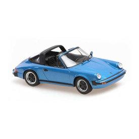Maxichamps Porsche 911 Targa 1977 blauw metallic - Modelauto 1:43