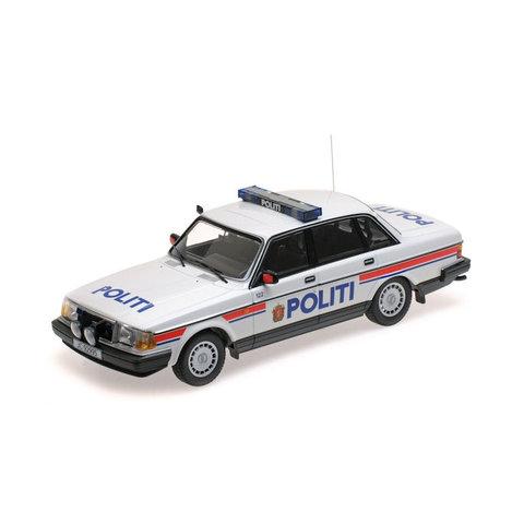 Volvo 240 GL 1986 Politie Noorwegen - Modelauto 1:18