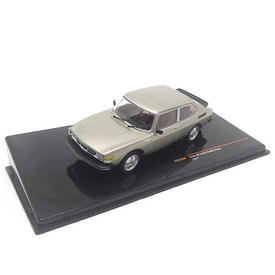 Ixo Models   Modelauto Saab 99 Turbo Combi Coupe 1977 grijs metallic 1:43