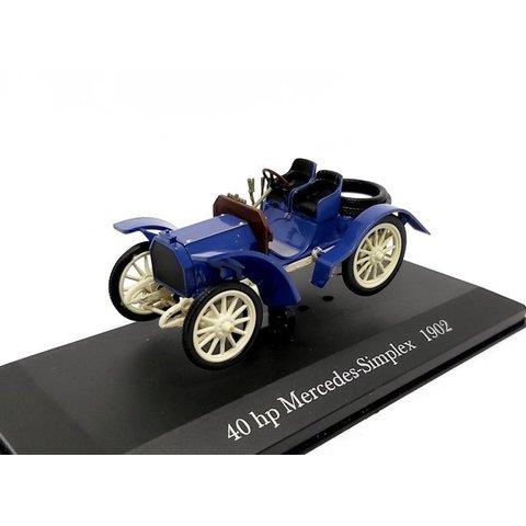 Mercedes Simplex 40 hp 1902 blue - Model car 1:43