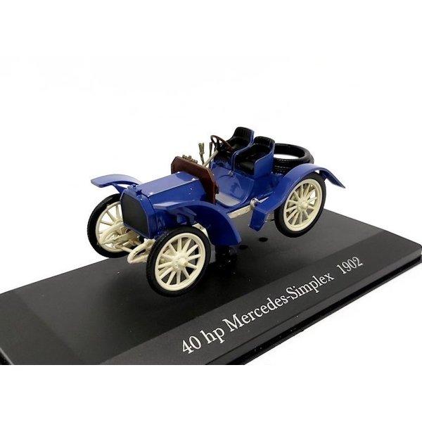 Model car Mercedes Simplex 40 hp 1902 blue 1:43