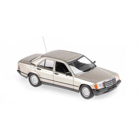 Mercedes Benz 190E (W201) 1984 zilver metallic - Modelauto 1:43