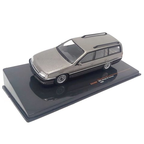 Opel Omega A2 Caravan 1990 grijs metallic - Modelauto 1:43