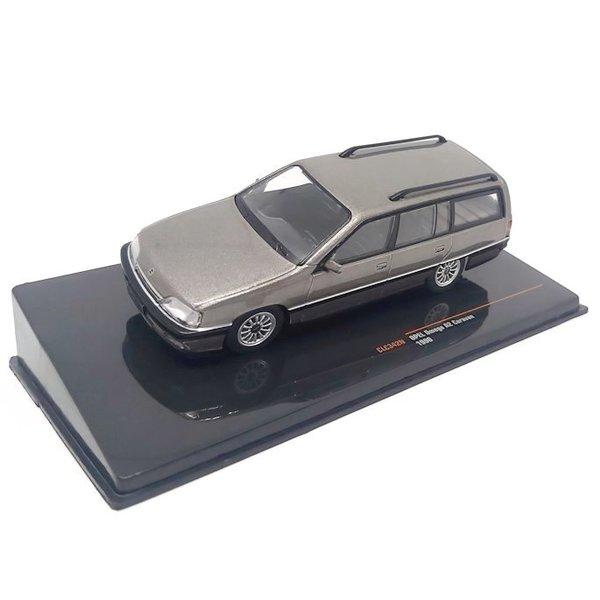 Modelauto Opel Omega A2 Caravan 1990 grijs metallic 1:43