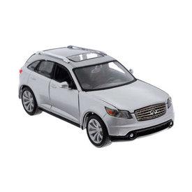 Maisto Model car Infiniti FX45 silver 1:24