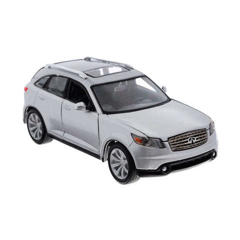 Infiniti FX45 zilver - Modelauto 1:24