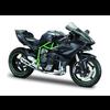 Model motorcycle Kawasaki Ninja H2 R black/green 1:12