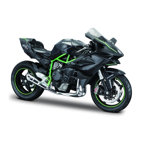 Kawasaki Ninja H2 R black/green - Model motorcycle 1:12