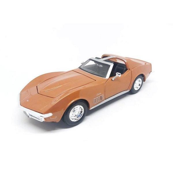 Model car Chevrolet Corvette 1970 bronze 1:24