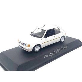 Norev Modelauto Peugeot 205 Rallye 1988 wit 1:43