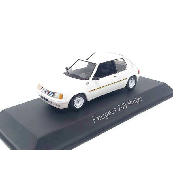 Model car Peugeot 205 Ralley 1988 Meije white 1:43