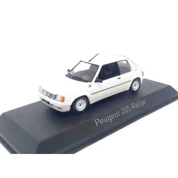 Modelauto Peugeot 205 Ralley 1988 wit 1:43