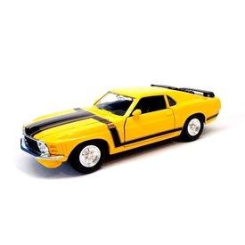 Maisto Ford Mustang Boss 302 1970 geel - Modelauto 1:24