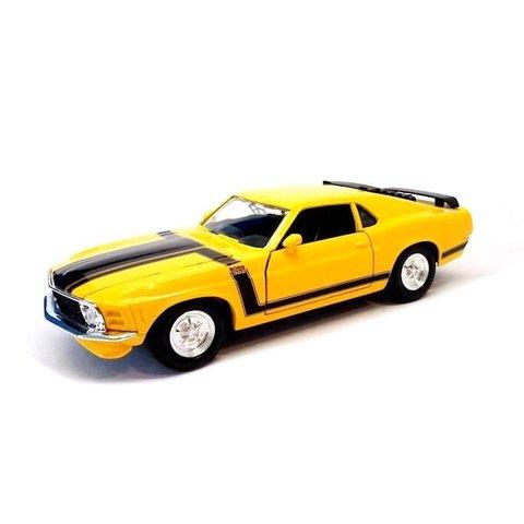 Ford Mustang Boss 302 1970 geel - Modelauto 1:24