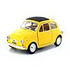 Modelauto Fiat 500L 1968 geel 1:24