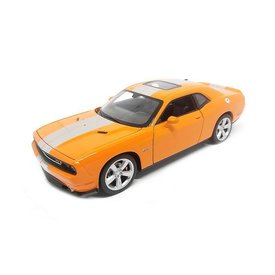 Welly Dodge Challenger SRT 2012 oranje - Modelauto 1:24