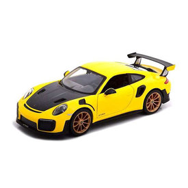 Maisto Porsche 911 (991 II) GT2 RS 2018 geel/zwart - Modelauto 1:24
