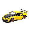 Modelauto Porsche 911 (991 II) GT2 RS 2018 geel/zwart 1:24 | Maisto
