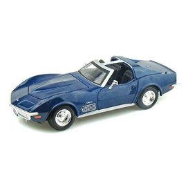 Maisto Chevrolet Corvette C3 1970 blue - Model car 1:24