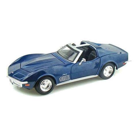 Chevrolet Corvette C3 1970 blauw - Modelauto 1:24