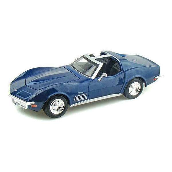 Modelauto Chevrolet C3 1970 1970 blauw 1:24