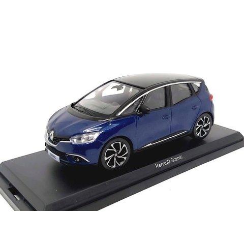 Renault Scenic 2016 blauw metallic / zwart - Modelauto 1:43