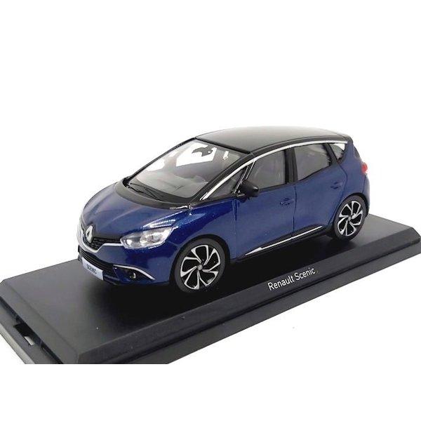 Modellauto Renault Scenic 2016 blau metallic / schwarz 1:43