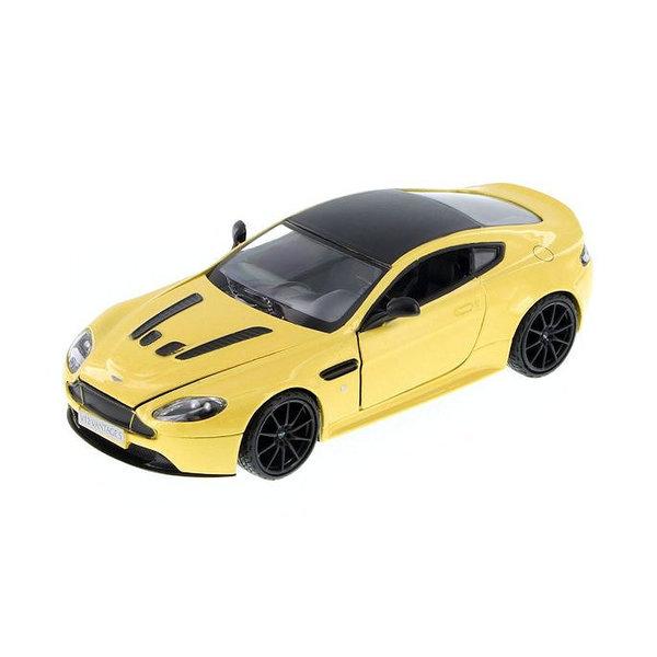 Modellauto Aston Martin V12 Vantage S gelb metallic 1:24
