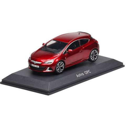 Opel Astra J OPC rood metallic - Modelauto 1:43