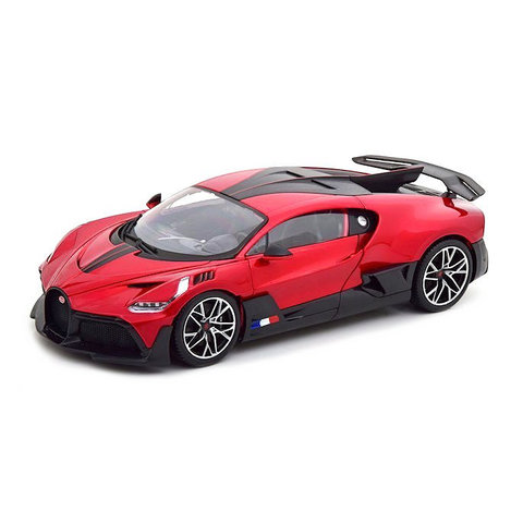 Bugatti Divo 2018 rood metallic/zwart - Modelauto 1:18