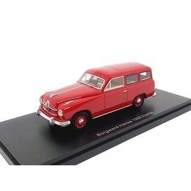 Neo Scale Models Borgward Hansa 1500 Kombi 1951 rood - Modelauto 1:43
